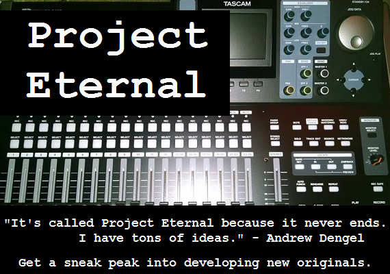 As Night Divine grows, song ideas seem keep on coming faster than we can complete the songs. That's ok, because we love recording them and sharing them with you at Project Eternal, even if they're not quite finished.